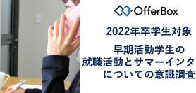 【2022年卒学生動向】早期活動学生の就職活動とサマーインターン についての意識調査