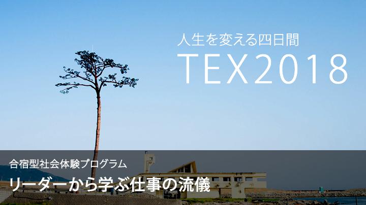 合宿型社会体験プログラム TEX2018